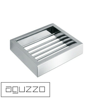Polished Stainless Steel Soap Basket Dish Tray Holder Bathroom Shower Wall