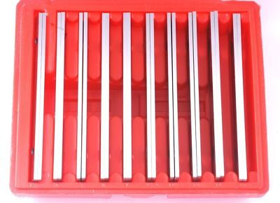 "New 1/8"" Steel Parallel Set 10 Pair Parallels .0002"" Hardened Usa"
