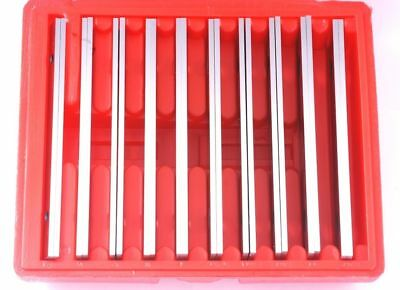 "Shars 1/8"" Steel Parallel Set 10 Pair Parallels .0002"" Hardened Usa"