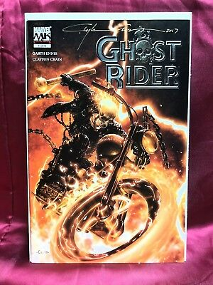 Ghost Rider: The Road To Damanation #1 Garth Ennis ☆Signed By Clayton Crain☆