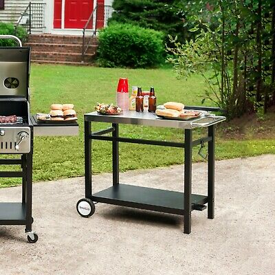 Royal Gourmet BBQ Work Table Kitchen Prep Cart Stainless Steel PC3401S