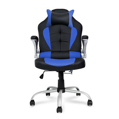 Recline Racing Chair  Leather Computer Executive Office Desk Workstation