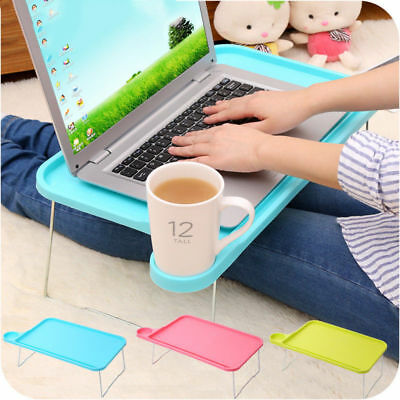Portable Foldable Tablet Table Desk Computer Notebook Tray Stand for Bed Sofa