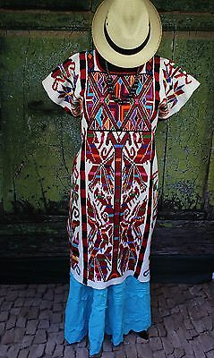 Traditional White Valle Nacionale Hand Woven Huipil Oaxaca Mexican Tree of Life
