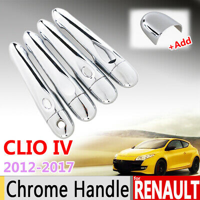 Chrome Outer Door Handle Covers For Renault Clio 4 IV 12-17 CatchTrim Overlays