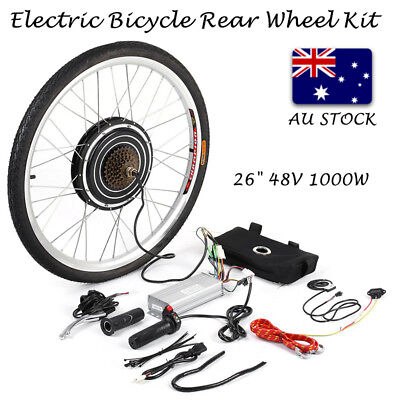 "26"" 1000W Electric Bicycle Rear Wheel Motor Conversion Kit Meter E Bike Hub"