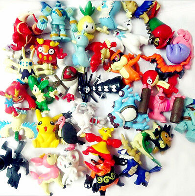 New 24pcs Wholesale Lots Cute Pokemon Mini Random Pearl Action Figures Kids Toys
