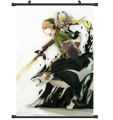 B3565 The The Legend of Zelda no anime manga Wallscroll Stoffposter 25x35cm
