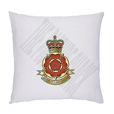 The Queens Lancashire Regiment Badge On Cushion / Pillow Including Padding.