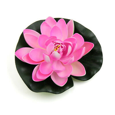 Foam Lotus Flower Fish Tank Water Pond Decor Floating Plant Ornament 17cm Dia