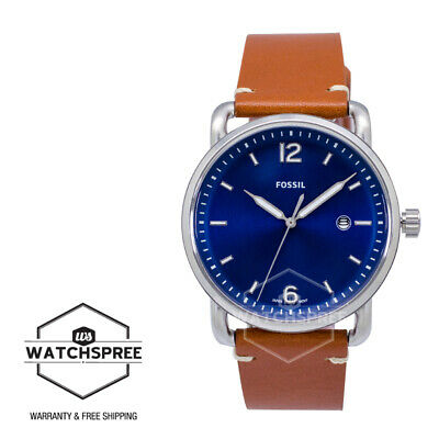 a020eb01fae2 NWT FOSSIL MEN S The Commuter Three-Hand Date Light Brown Leather ...