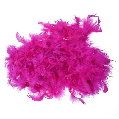 2m Feather Boas Fluffy Craft Costume Dressup Wedding Party Home Decor (Hot P) SS
