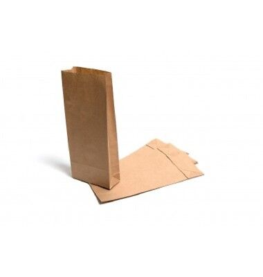 Brown Block Bottom Paper Bags - Various Sizes