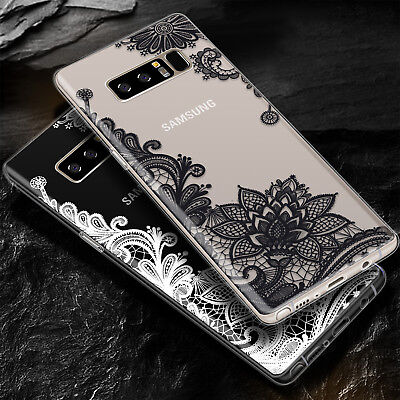 Lace Flower Pattern Soft TPU Silicone Case Cover for Samsung Galaxy Note 8 S7/S8