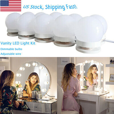 Chende Hollywood Vanity Mirror Light Kit for Makeup Dressing with Dimmer 10 Bulb