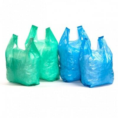 Blue Recycled Carrier Bags - Various Sizes