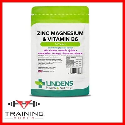 Lindens Zinc Magnesium & Vitamin B6 90 Tablets Skin Bones Energy Recovery