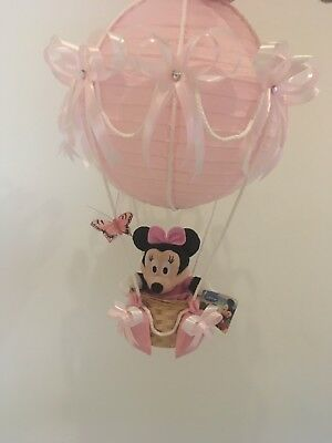 minnie mouse in hot air balloon lamp light shade for baby nursery ❤️Baby gift❤