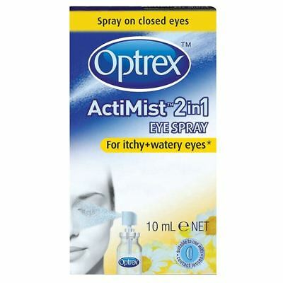 Optrex Acti-Mist 2in1 Eye Spray For Itchy & Watery Eyes 10ml - 2 Pack