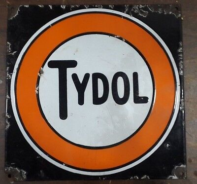 Vintage Tydol Porcelain  Gas Pump Sign