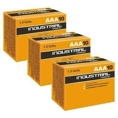 30 x DURACELL INDUSTRIAL PROFESSIONAL 1.5V AAA ALKALINE BATTERIES EXPIRY 2024 UK