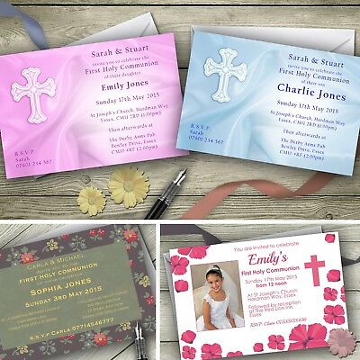 Holy Communion Invitations / Personalised Party Invites Photo