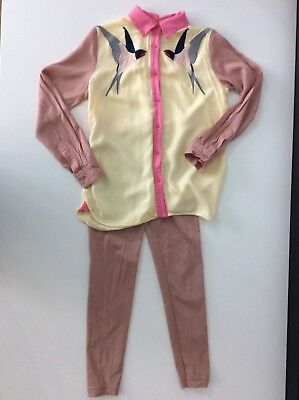 Stella McCartney Kids 2 Piece Outfit Set Shirt Blouse Leggings Age 10 Years Bird
