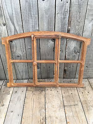 Industrial Style Cast Iron Window Frame for Use as a Window or Mirror Wall Art