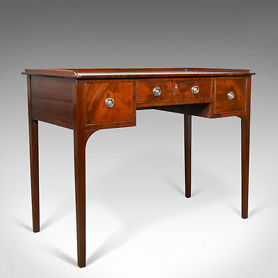 Antique Side Table, Mahogany, English, Writing Desk, Late Georgian, Circa 1800