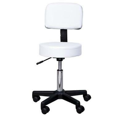 HOMCOM Salon Spa Swivel Chair, PU Leather-White
