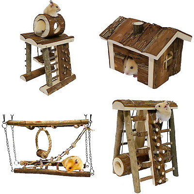 Rosewood Woodies  Ultimate Hamster Natural Wooden Activity Toys