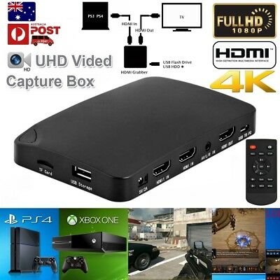 2in1 4K HDMI 1080P Video Capture Box Recording Fr PS4 PS3 XBOX ONE TV BOX AV DVD
