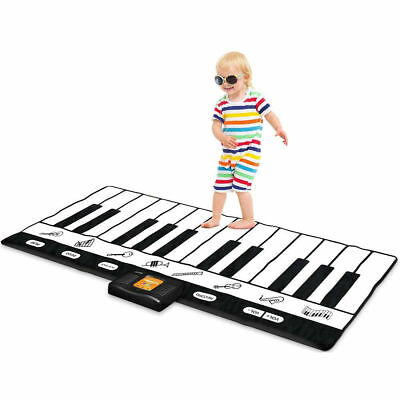 Piano Keyboard Play Mat 24 Keys 71'' for Music Dance Kids Musical Toy Record New