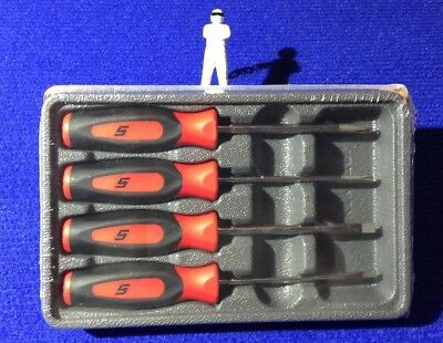 Snap On 4 piece Mini Tip Instinct Screwdriver Set in Bright RED SGDX40BR NEW