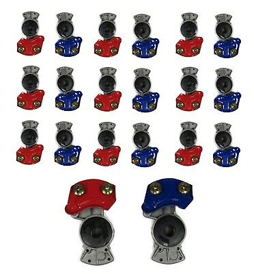 20 Pc Glad Hand Set 10 Red Emergency 035042 & 10 Blue Service 035045 Gladhands