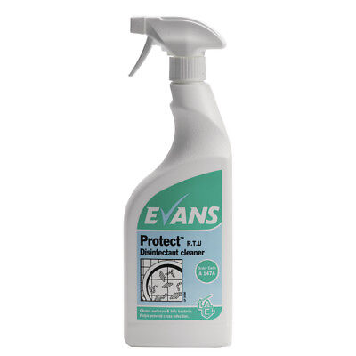 Evans Protect Disinfect Cleaner 750Ml P6