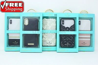 Kate Spade NY Flexible Hardshell Wrap Lace Cage Case Cover for iPhone X 10