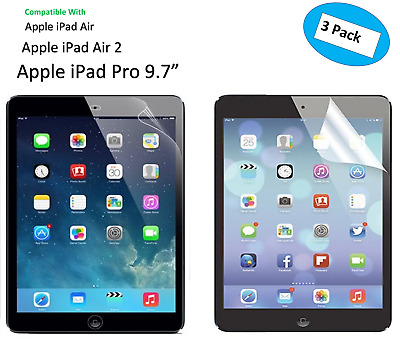 """3 X Ultra Clear  HD Screen Protector Guard Cover For Apple iPad Pro 9.7"""""""