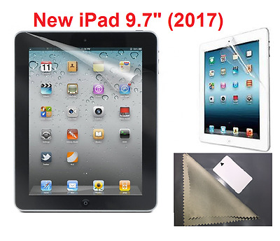 "2 X Ultra Clear  HD Screen Protector Guard Cover For New Apple iPad 9.7"" ( 2017)"