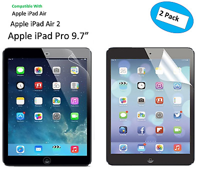 2 X Ultra Clear  HD Screen Protector Guard Cover For Apple iPad Pro 9.7""