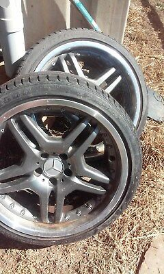 "Mercedes AMG 2 Piece Rims 5x112  9"" New Jap Tyres (2) ET 35"