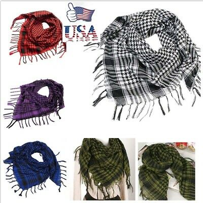 US Latest Women Men Arab Shemagh Keffiyeh Palestine Scarf Shawl Wrap Scarves Hot