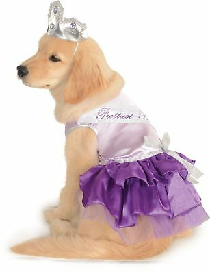 Prettiest Pooch Dog Costume - LARGE - Beauty Queen Dress, Sash & Tiara - NWT