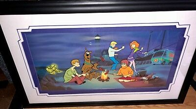 Hanna Barbera Takamoto Signed Cel Clue For Scooby Doo Rare Hors De Commerce Cell