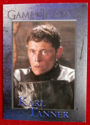 GAME OF THRONES - Season 4 - Card #92 KARL TANNER - Rittenhouse 2015