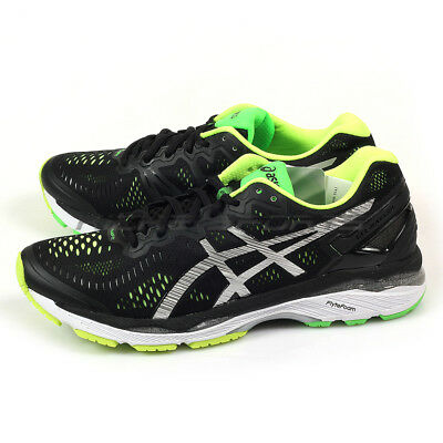 brand new 91a8e 5c741 {KICKZ} ASICS GEL-KAYANO 23 Black/Silver/Safety Yellow Running Shoes  T646N-9093