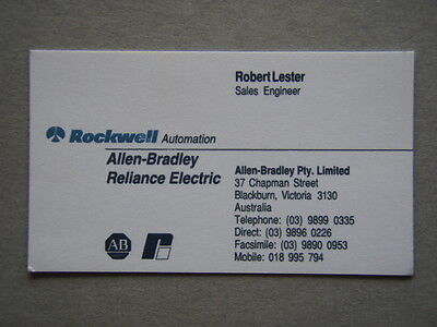 Rockwell automation allen bradley phone card smc dialog plus rockwell automation allen bradley blackburn robert lester business card reheart Choice Image
