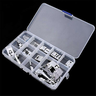 15Pcs Presser Foot Feet For Brother Singer Janome Domestic Sewing Machine Parts