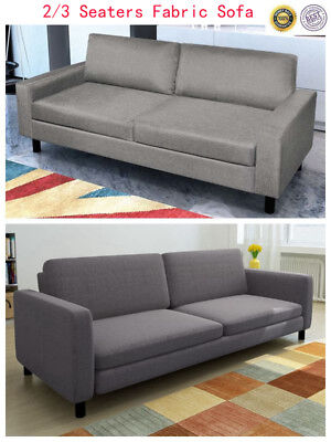 MODERN FABRIC UPHOLSTRY Sofa Couch Chaise Home Lounge Furniture 2 / 3  Seaters