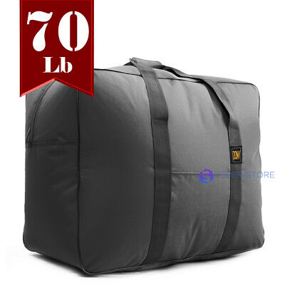 Lightweight 70 Lb Cap Square Duffel Bag Cargo Bag Maletin Travel Bag Gym Black